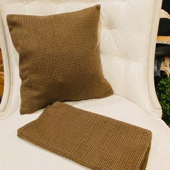 Vintage Tweed Houndstooth Accent Pillow Set *710*